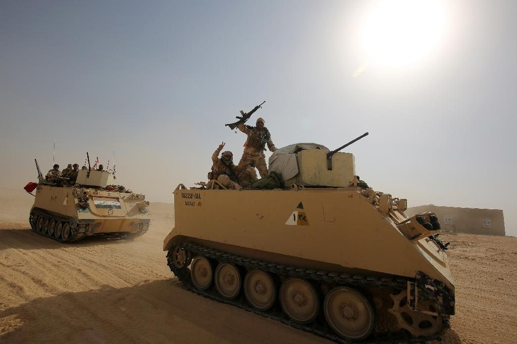 A final military operation was launched last month against the Islamic State group in a vast desert region of western Iraq (AFP Photo/AHMAD AL-RUBAYE)