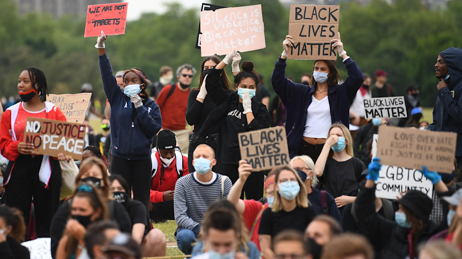 Hundreds stage Black Lives Matters protest in London