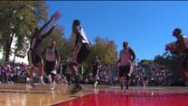 Kings Scrimmage Outside, Preview New Outdoor Basketball Court