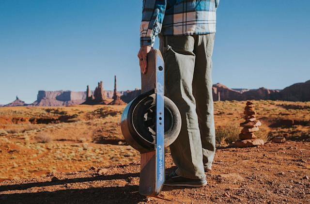 Onewheel doubles the range of its electric skateboard