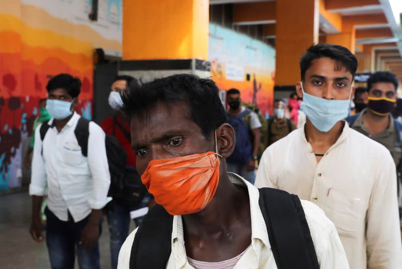 India's coronavirus infections rise by 55,342 to 7.18 million