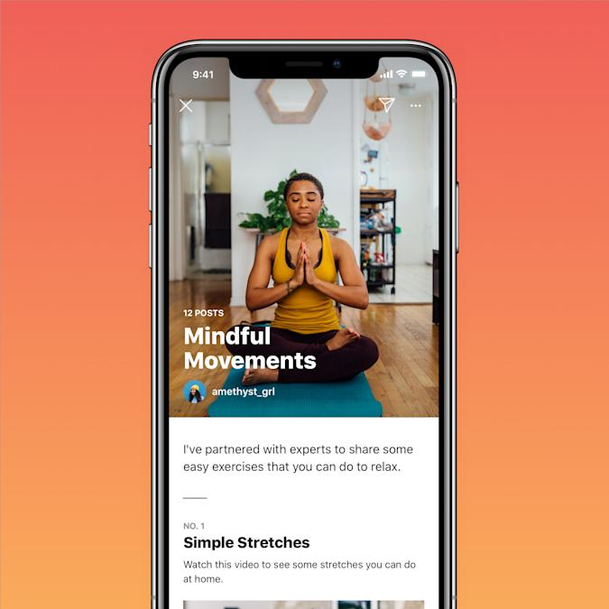Instagram launches wellness 'Guides.'