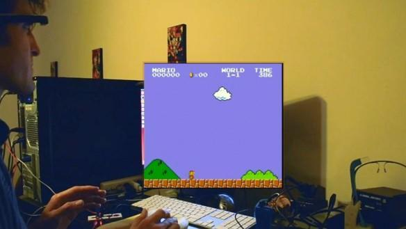 $25 Google Glass hack uses 3D printed webcam mount to let you play Mario with your eyes