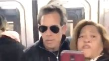 Commuter Adorably Freaks Out At Ben Stiller Riding The Subway