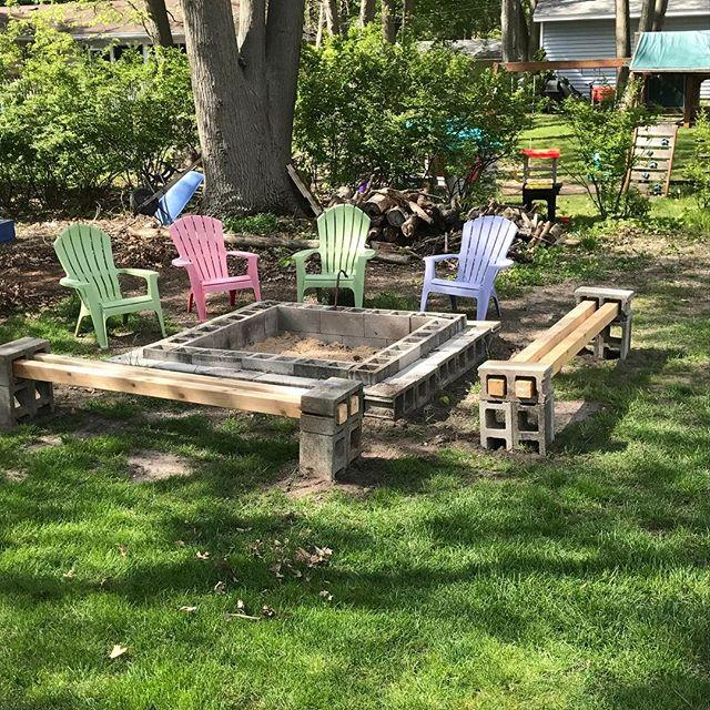 <p>If you're going to build benches, why not also build a fire pit to match?</p>