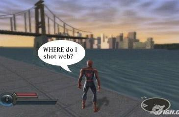 Forlorn Spidey has nowhere to sling his webs