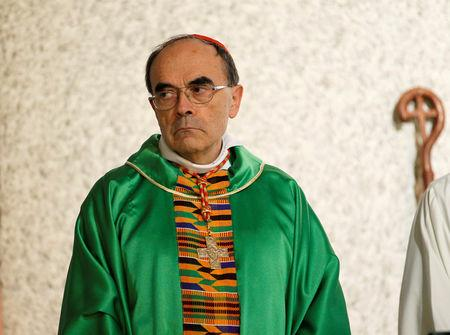 FILE PHOTO: French Archbishop Philippe Barbarin attends a ceremony to consecrate the new parish of Saint-Philippe de Venissieux, near Lyon, France, September 30, 2018. REUTERS/Emmanuel Foudrot/File Photo
