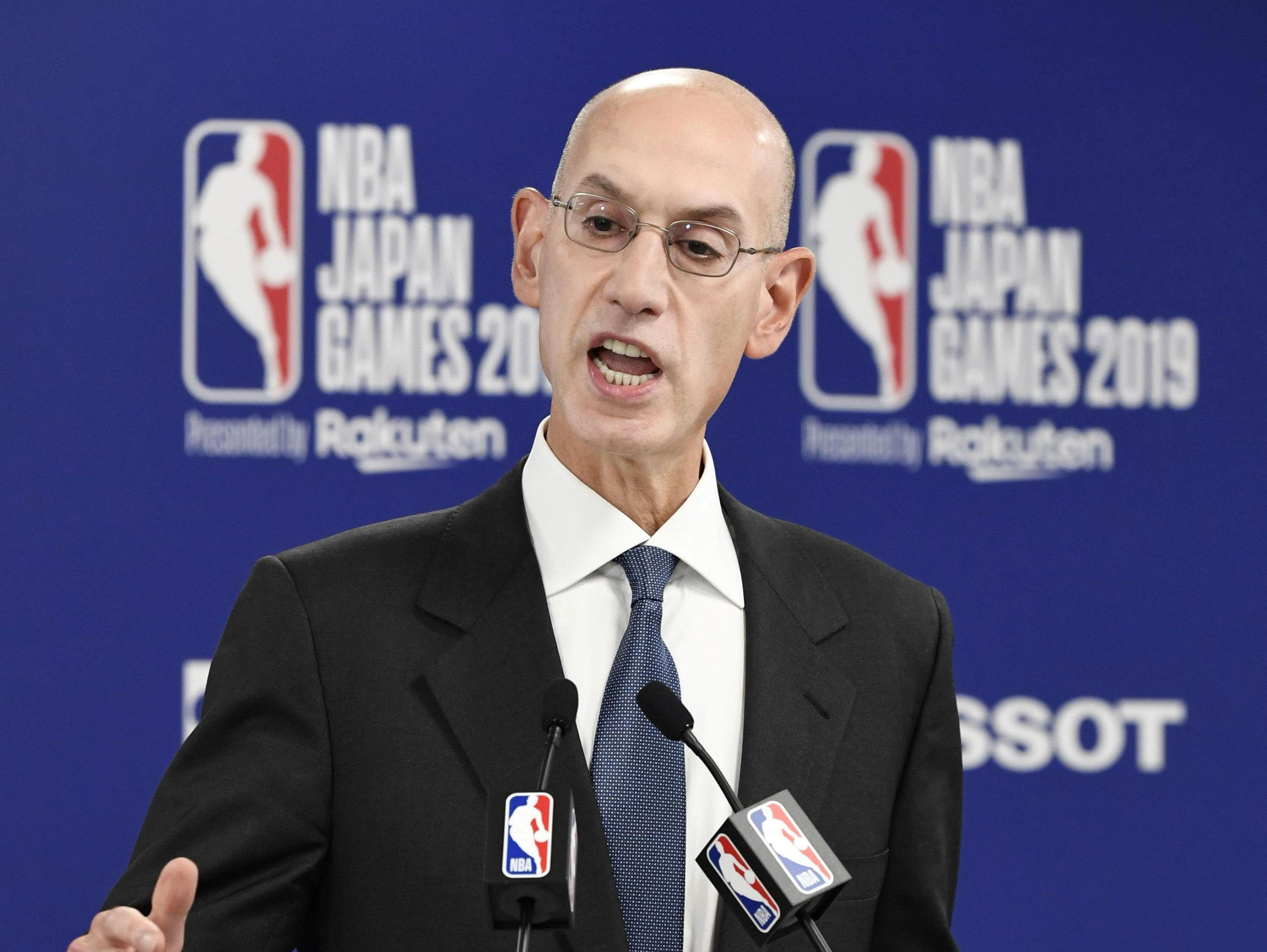 China's CCTV: NBA's Adam Silver will face 'retribution sooner or later'