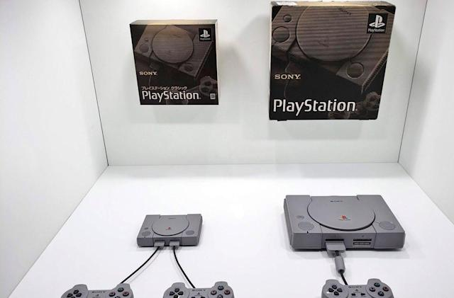 PlayStation Classic and original PlayStation, side by side