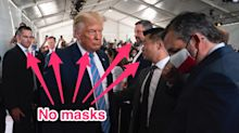 Trump attended a fundraiser in Texas without a mask on the day the US hit 150,000 coronavirus deaths