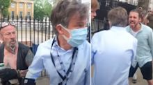 'Deeply disturbing' footage shows BBC journalist chased by anti-lockdown protesters outside Downing Street