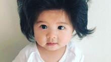 Les internautes sont fascinés par les cheveux de ce bébé de six mois