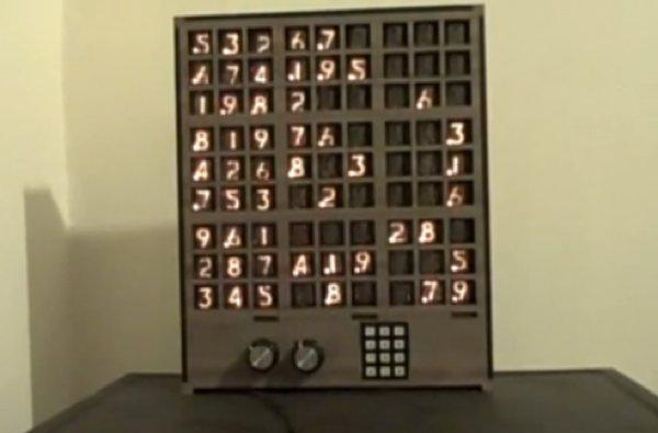 Hacker uses Nixie Tubes to make Sudoku interesting