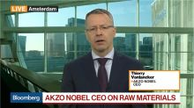 AkzoNobel CEO Sees No Raw-Material Headwind in Second Half