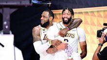 Anthony Davis, Lakers honor Kobe Bryant after NBA Finals win: 'I know he's looking down on us'