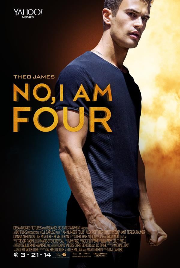Poster: Theo James Is the New 'Four' I Am Number Four Movie Poster