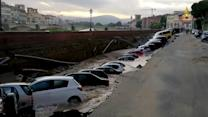 600-Foot Sinkhole Swallows 20 Cars in Italy