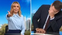 Today hosts can't contain laughter after rude double entendre
