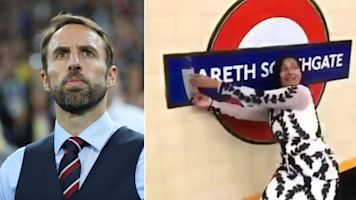 Gareth Southgate's tube sign tribute ripped down