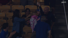 Mets mom saves baby after dad catches foul ball
