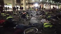 Cyclists stage London die-in protest