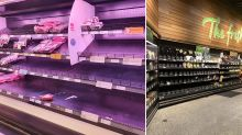 Shelves stripped bare at Coles, Woolworths as panic buying ramps up in Melbourne