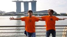 Shinhwa's Minwoo and Andy were in Singapore for online food show