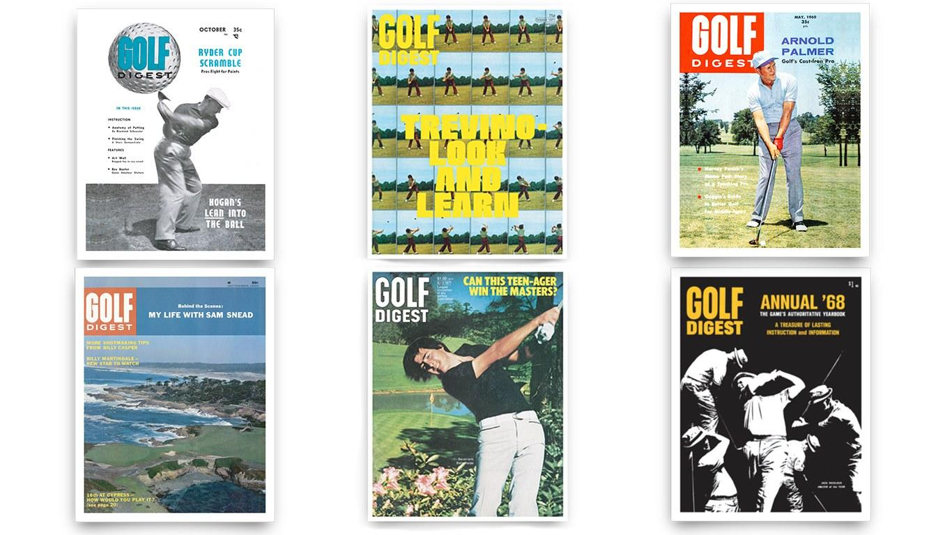 These Golf Digest cover prints give a stylish glimpse into the history of the game