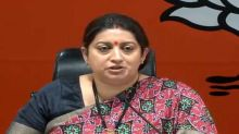 SC notice to Irani on Nirupam's plea about defamation plaint against him