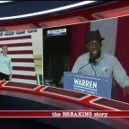 Elizabeth Warren rallies supporters in New York City