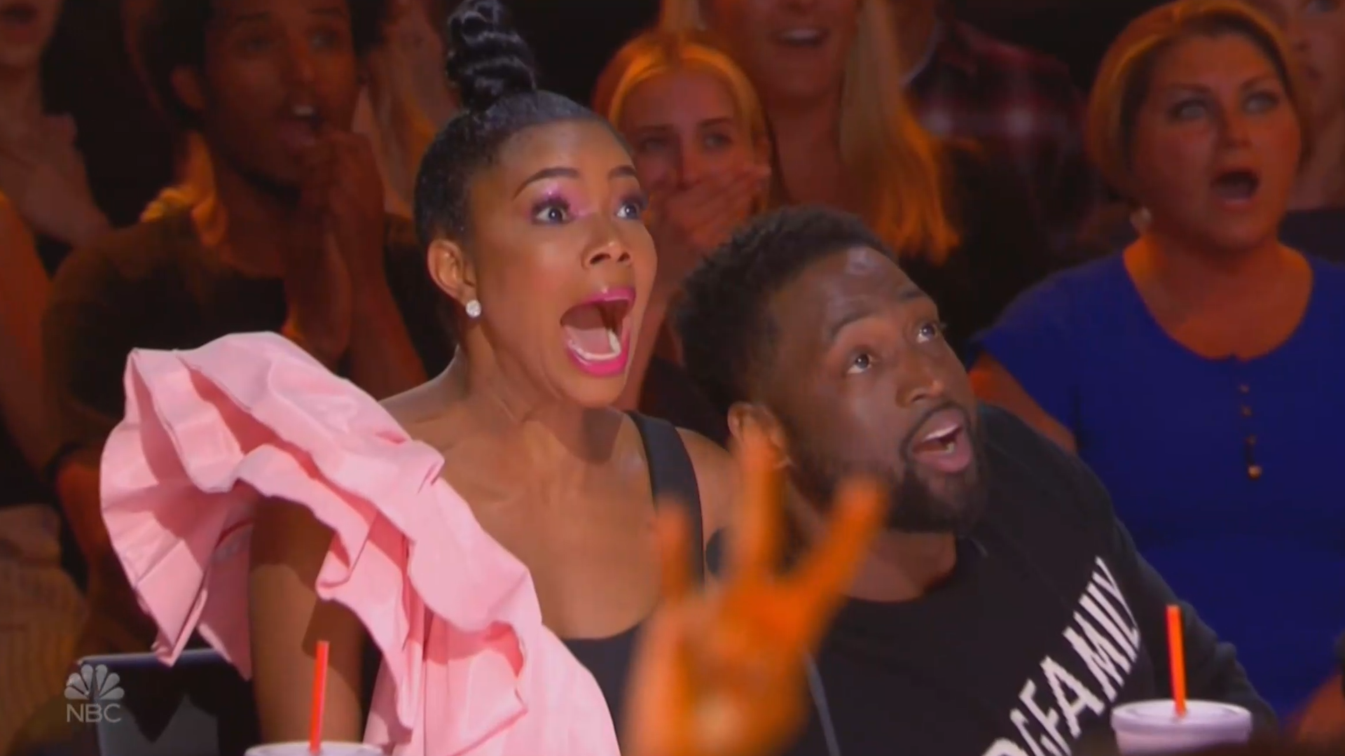 Dwyane Wade Give Acrobats Golden Buzzer On Agt
