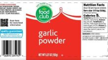B&G Foods Issues Voluntary Allergy Alert on Undeclared Soy in a Limited Number of Containers of Food Club Garlic Powder that Incorrectly Contain Bacon-Flavored Bits