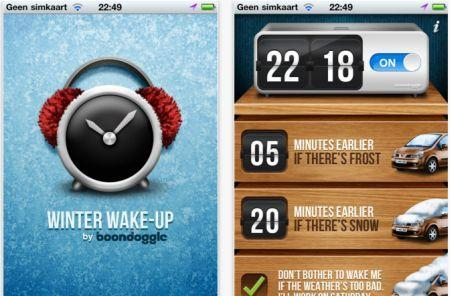 Winter Wake-Up app adjusts your alarms for bad weather