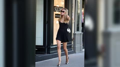 Kimberley Garner Shows Some Skin Over Lunch in Paris