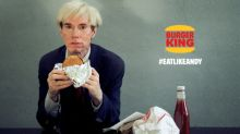 The Burger King® Brand Super Bowl Commercial Stars Andy Warhol