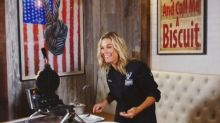 How to make chef Cat Cora's bacon-cheddar waffles with whiskey maple syrup