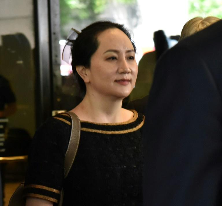 Huawei executive Meng Wanzhou leaves British Columbia Supreme Court in Vancouver in May 2020