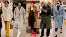 Teddy Coats Were a Street Style Hit On Day 2 of New York Fashion Week