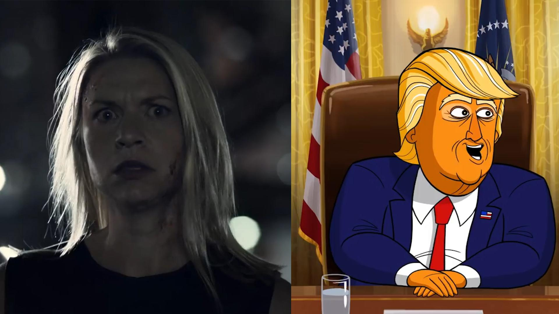 �homeland� amp �our cartoon president� review spy drama