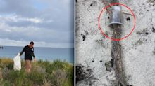 Heartbreaking find among 70kgs of rubbish found on Perth beach