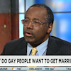 Presidential contender Ben Carson says prison inmates prove homosexuality is a choice