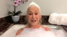 Helen Mirren did her 'Tonight Show' interview from the bathtub: 'My favorite place in the world'