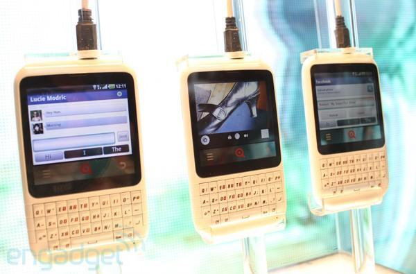 INQ Cloud Q busts from cover at MWC 2011 and we get glass-on