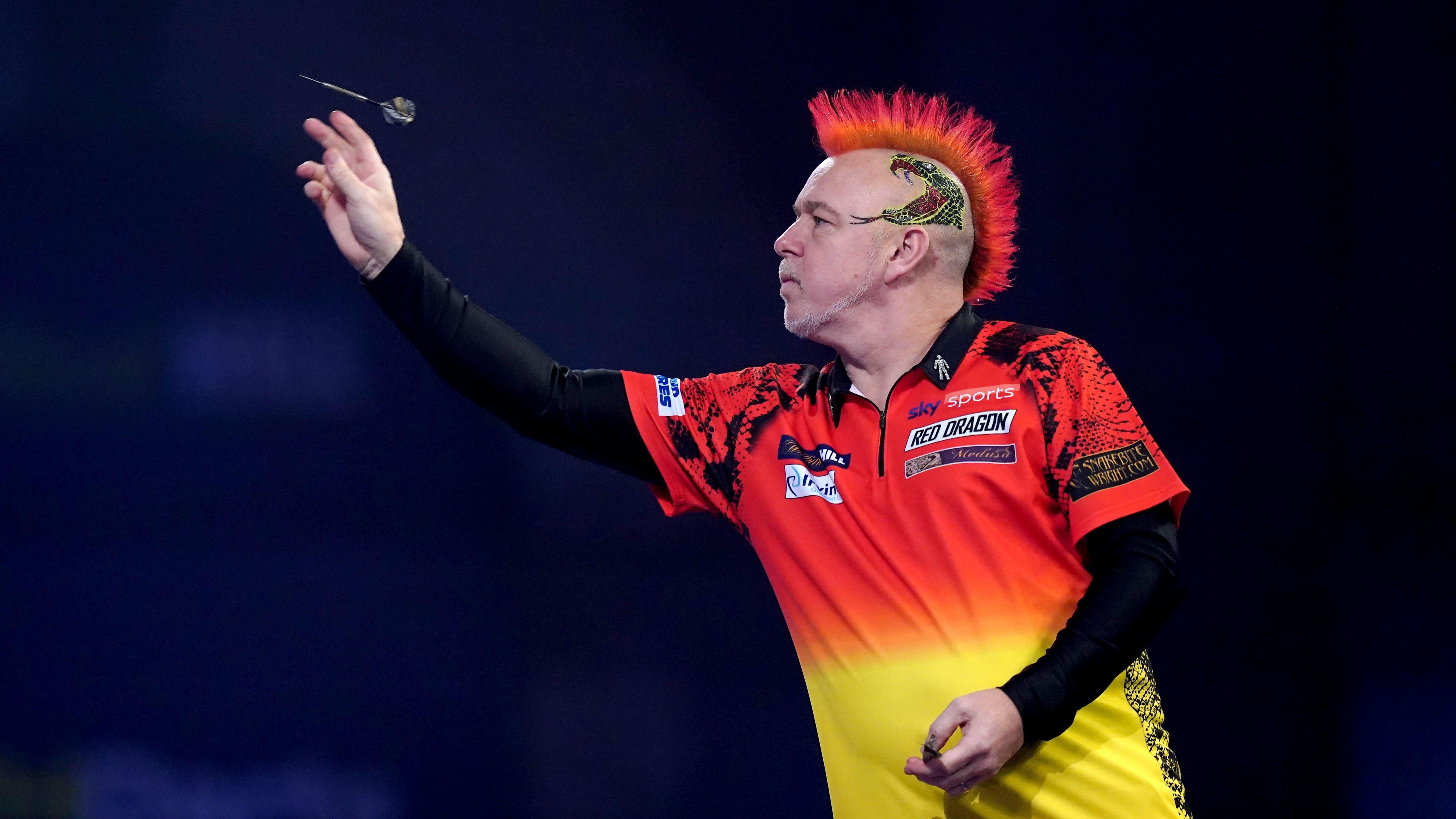 Peter Wright claims first World Matchplay title by beating Dimitri Van Den Bergh