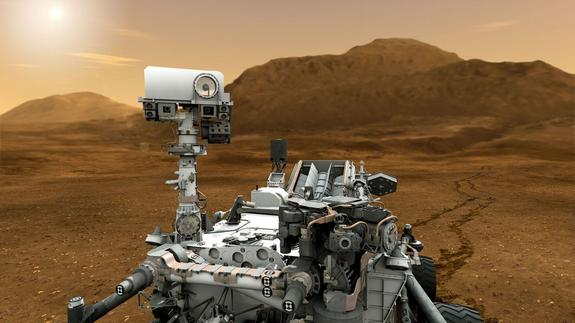 Mars Rover Curiosity Measures Red Planet Radiation