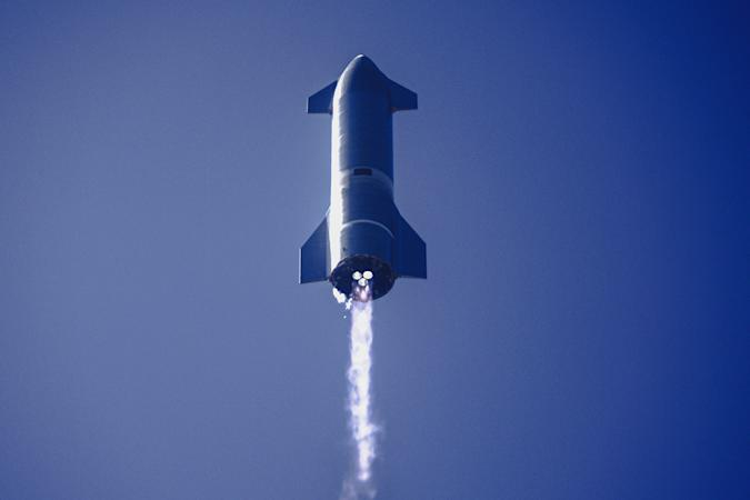 SpaceX Starship SN9 rocket high altitude test