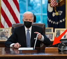 Biden brought the button Trump used to order Diet Cokes back to the Oval Office
