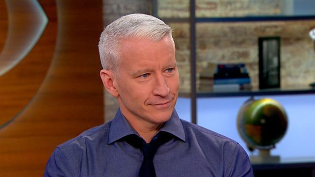 Anderson Cooper on wetsuits: Either me or Morley Safer