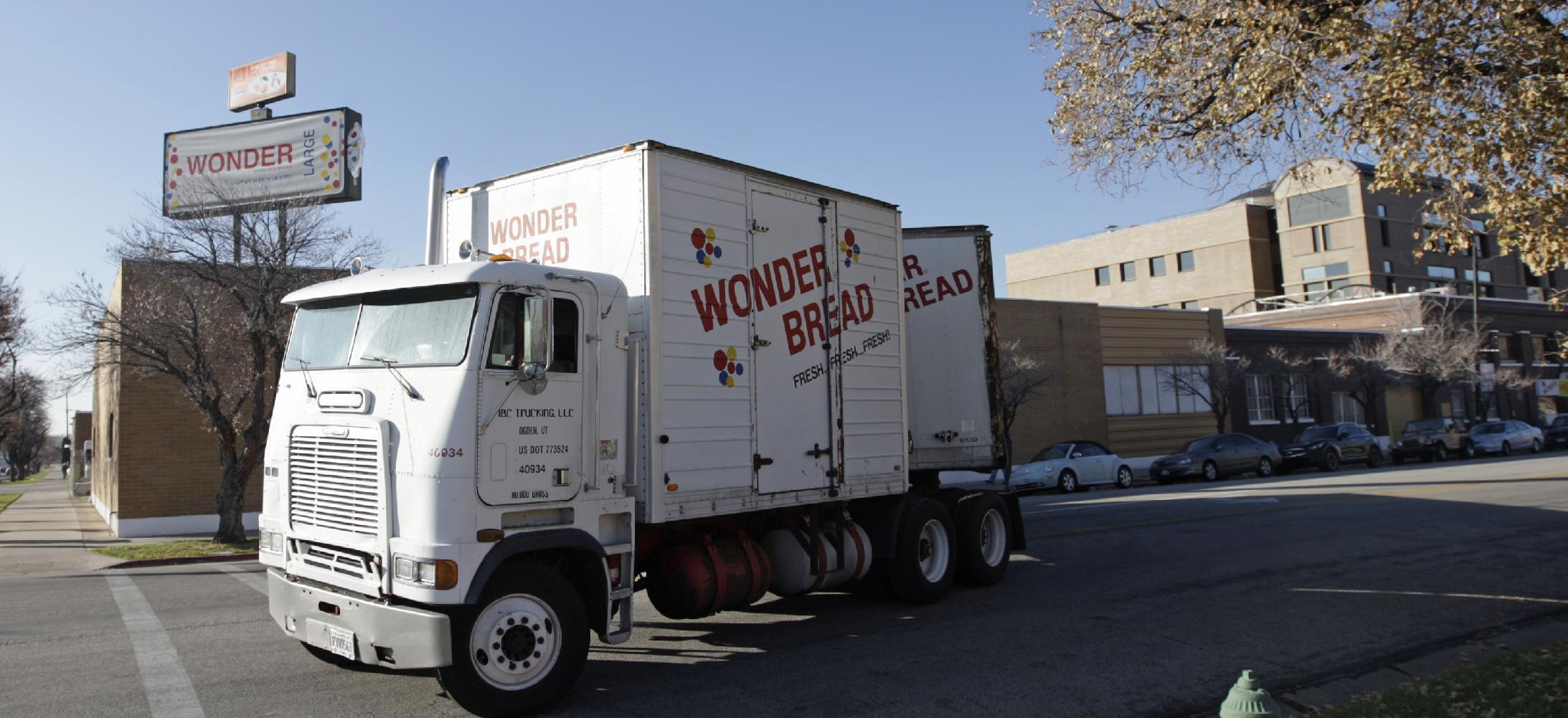 A Wonder Bread truck pulls out of the Utah Hostess plant in Ogden, Utah, Thursday, Nov. 15, 2012. Hostess Brands Inc. said it likely won't make an announcement until Friday morning on whether it will move to liquidate its business, after the company had set a Thursday deadline for striking employees to return to work. The maker of Twinkies, Ding Dongs and Wonder Bread said Thursday it will file a motion in U.S. Bankruptcy Court to shutter operations if enough workers don't return by 5 p.m. EST. That would result in the loss of about 18,000 jobs, including hundreds in Ogden. (AP Photo/Rick Bowmer)