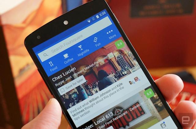 Foursquare lets other apps use its core location tech